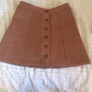 Dresses & Skirts - Brown suede mini skirt